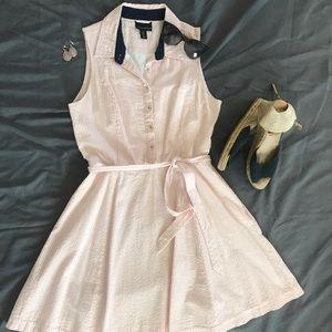 Pink and White Seersucker Dress